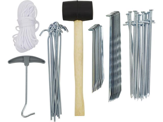 CAMPZ Zelt Zubehör Set 50 Teile silber